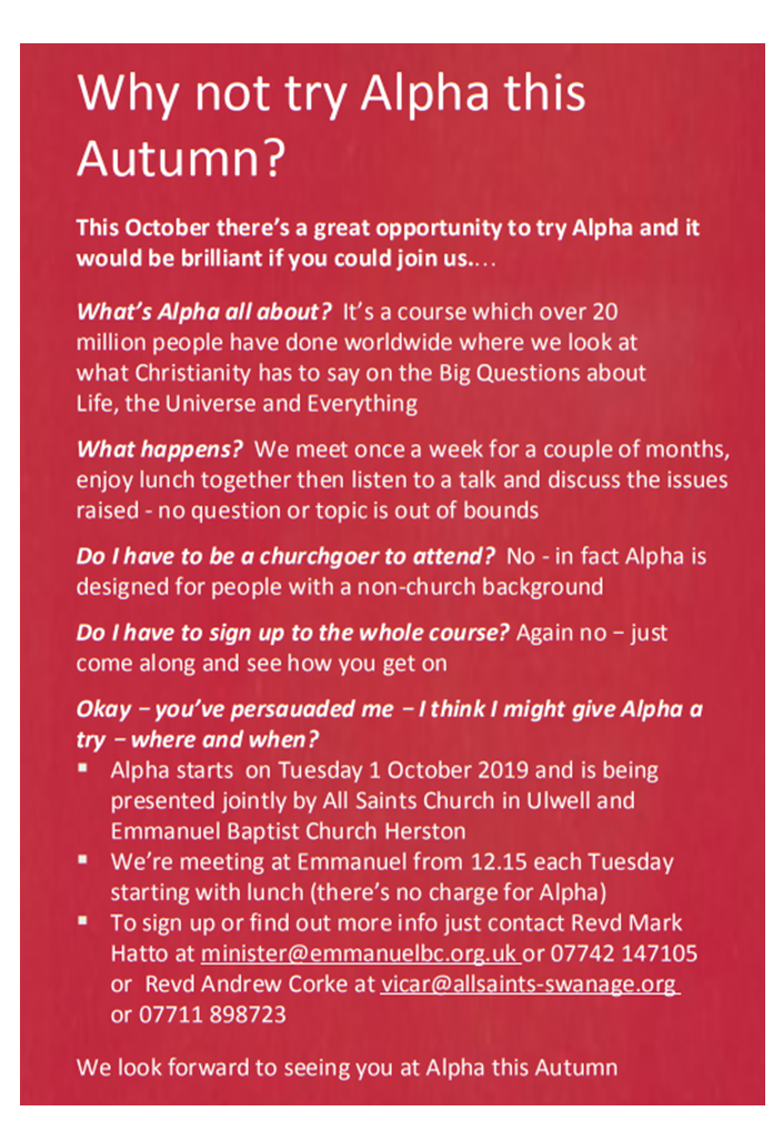 What is Alpha all about?